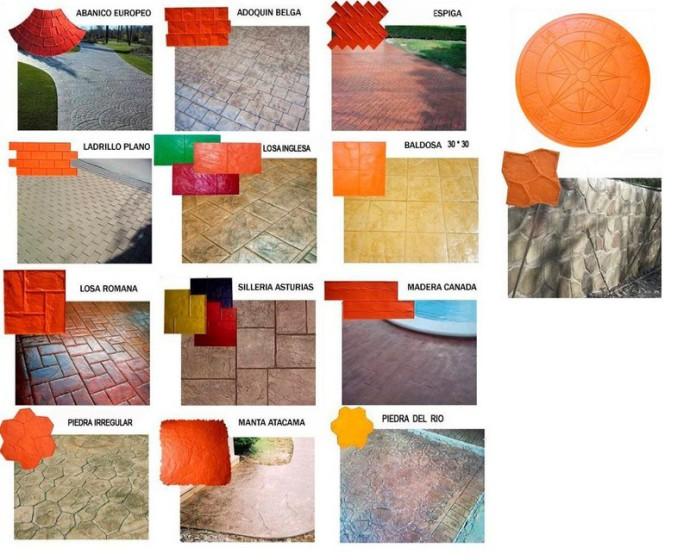 Pavimento impreso moldes for Productos para hormigon impreso
